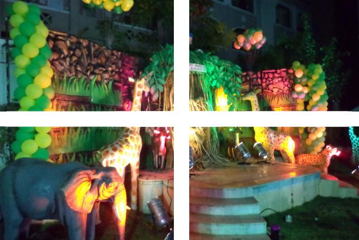 Impreza w stylu dżungli