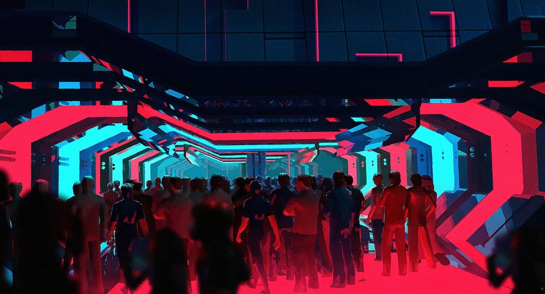 Impreza w stylu cyberpunk